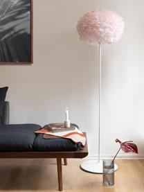 Lampenschirm Eos aus Federn, Gänsefedern, Stahl, Helles Rosa, Ø 45 x H 30 cm