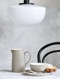 Assiettes à dessert en porcelaine Alice, 2pièces, Gris, blanc