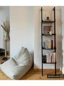 Schmales Holz-Leiterregal Wally in Schwarz, Mitteldichte Holzfaserplatte (MDF), lackiert, Schwarz, 37 x 180 cm