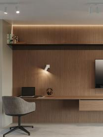 Faretto da soffitto bianco Etna, Paralume: acciaio verniciato, Bianco, Larg. 8 x Alt. 15 cm