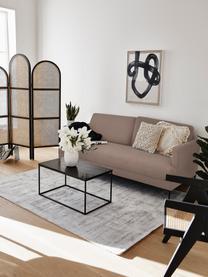 Canapé 3places taupe avec pieds en métal Moby, Taupe