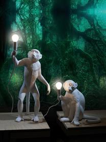 Designová venkovní stolní lampa se zástrčkou Monkey, Bílá