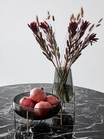 Mundgeblasene Design-Vase Échasse, Gestell: Messing, Vase: Glas, mundgeblasen, Messingfarben, Grau, Ø 15 x H 28 cm