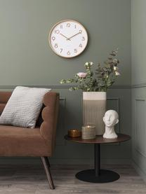 Reloj de pared Pure, Madera pintada, Blanco, madera, Ø 40 cm