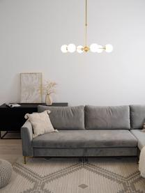 Lampada a sospensione dorata Aurelia, Paralume: Vetro, Bianco, ottone, Ø 61 x Alt. 78 cm