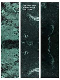 Tables gigognes en marbre Ella, 2élém., Plateau: marbre vert Structure: couleur dorée, mat