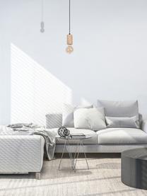 Lampada a sospensione in legno Lines, Baldacchino: legno, metallo, Legno, nero, Ø 6 x Alt. 11 cm