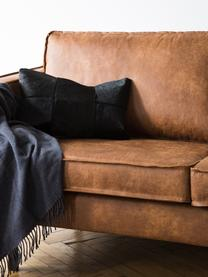 Canapé 2places cuir Hunter, Cuir brun
