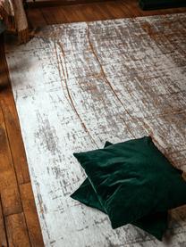 Teppich Griff, Vorderseite: 85%Baumwolle, 15%hochgl, Webart: Jacquard, Rückseite: Baumwollgemisch, latexbes, Grau, Goldfarben, Weiß, B 140 x L 200 cm (Größe S)