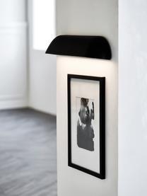 LED-Außenwandleuchte Front, Schwarz<br>Diffusor: Weiß, milchig-transparent, 36 x 7 cm