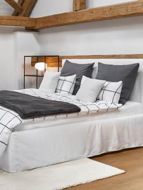 Perkal dekbedovertrek Juna, Weeftechniek: perkal Draaddichtheid 180, Wit, zwart, 140 x 200 cm + 2 kussen 60 x 70 cm