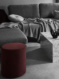 Rundes glänzendes Samt-Kissen Monet in Silbergrau, mit Inlett, Bezug: 100% Polyestersamt, Silbergrau, Ø 40 cm
