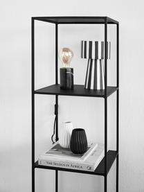 Handgefertigter Pflanztopf Toppu aus Keramik, Keramik, Weiß, Schwarz, Ø 15 x H 24 cm