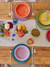 Set 18 piatti per 6 persone Baita, Terracotta (Hard Dolomite), dipinto a mano, Giallo, lilla, turchese, arancione, rosso, verde, Set in varie misure