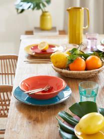 Serviesset Baita, 18-delig, Handbeschilderd keramiek (hard dolomiet), Geel, lila, turquoise, oranje, rood, groen, Set met verschillende formaten