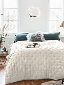 Wattierte Samt-Tagesdecke Cheryl mit dekorativer Steppung, 100% Baumwolle, Champagner, B 240 x L 250 cm (für Betten ab 160 x 200)