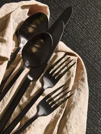 Schwarzes Besteck-Set Shine aus Edelstahl, in verschiedenen Setgrößen, Messer: Edelstahl 13/0, Schwarz, 1 Person (5-tlg.)