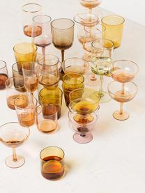 Verre à vin bigarré soufflé bouche Desigual, 6élém., Brun, tons roses, vert, jaune, lilas