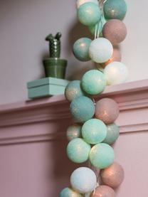 Girlanda świetlna LED Colorain, Zielony miętowy, odcienie szarego, biały, D 264 cm