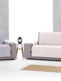 Copridivano Levante, 65% cotone, 35% poliestere, Color crema, Larg. 110 x Lung. 220 cm