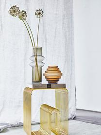 Transparante glazen vaas Rilla met een amberkleurige glans, Glas, Amberkleurig, Ø 16 x H 16 cm