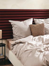 Pościel z satyny bawełnianej Comfort, Taupe, 135 x 200 cm + 1 poduszka 80 x 80 cm