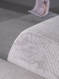 Divano a 3 posti in tessuto a coste grigio Melva, Rivestimento: velluto a coste (92% poli, Struttura: legno di pino massiccio, , Piedini: plastica, Velluto a coste grigio, Larg. 238 x Alt. 101 cm