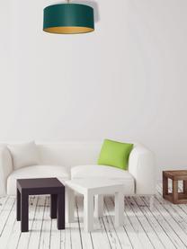 Deckenleuchte Benni, Lampenschirm: Baumwollgemisch, Baldachin: Metall, beschichtet, Grün, Messingfarben, Ø 50 x H 35 cm