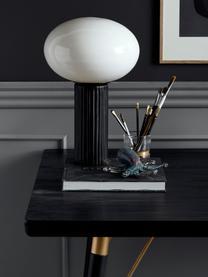 Esstisch Marlena in Schwarz, Tischplatte: Mitteldichte Holzfaserpla, Beine: Metall, lackiert, Schwarz, Goldfarben, B 180 x T 90 cm