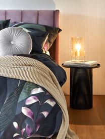 Fluwelen gestoffeerd bed Dusk, Frame: massief grenenhout, Poten: gepoedercoat metaal, Bekleding: polyesterfluweel, Mauve, 180 x 200 cm