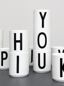 Kubek Personal (warianty od A do Z), Porcelana chińska, Biały, czarny, Kubek T