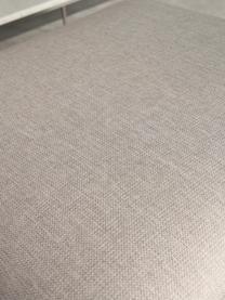 Poggiapiedi contenitore da divano Cucita, Rivestimento: tessuto (poliestere) Il r, Struttura: legno di pino massiccio, Piedini: metallo verniciato, Beige, Larg. 75 x Alt. 46 cm