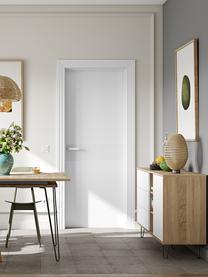 Credenza di design Aero, Piedini: metallo verniciato, Legno di quercia, bianco, Larg. 120 x Alt. 80 cm