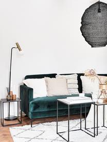Lampada da lettura con paralume in vetro Wilson, Base della lampada: metallo verniciato a polv, Paralume: vetro, Nero, Ø 23 x Alt. 151 cm