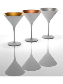 Kryształowy kieliszek do koktajli Elements, 6 szt., Szkło kryształowe, powlekane, Biały, odcienie mosiądzu, Ø 12 x W 17 cm