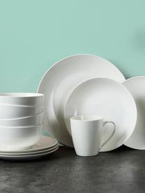 Assiette plate porcelaine Delight Modern, 2pièces, Blanc