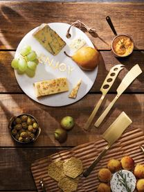 Goldfarbenes Käsemesser Art aus Edelstahl, 3er-Set, Edelstahl, beschichtet, Messingfarben, L 25 cm