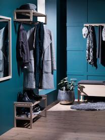 Holz-Schuhregal Confetti mit 2 Ablageflächen, Eichenholz, massiv, lackiert, Eichenholz, weißgewaschen, 80 x 40 cm