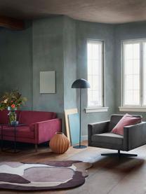 Tappeto in lana Oblivian, Retro: 55% cotone, 45% poliester, Rosso, beige, Larg. 140 x Lung. 180 cm (taglia S)