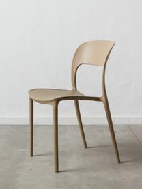 Krzesło z tworzywa sztucznego Valeria, Tworzywo sztuczne (PP), Beżowy, S 43 x G 43 cm
