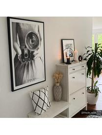 Kissenhülle Laila mit Rautenmuster, 100% Baumwolle, Weiß, Schwarz, 45 x 45 cm