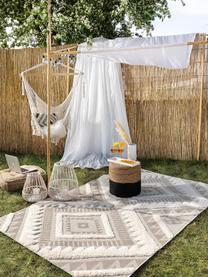 Ethno In- & Outdoor-Teppich Carlo mit Hoch-Tief-Struktur, 100% Polyethylen, Beige, Cream, B 120 x L 170 cm (Größe S)
