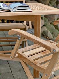 Krzesło ogrodowe z drewna York, Drewno tekowe, piaskowane, Drewno tekowe, 51 x 86 cm