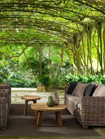 Tavolino da giardino in legno di teak Bolivar, Legno di teak laccato trasparente, Marrone, Ø 50 x Alt. 45 cm
