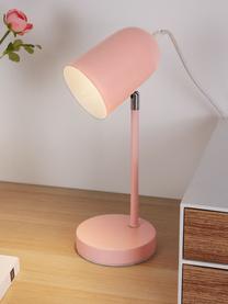 Lampada da scrivania True Pearl, Paralume: metallo rivestito, Base della lampada: metallo rivestito, Rosa, Larg. 12 x Alt. 34 cm
