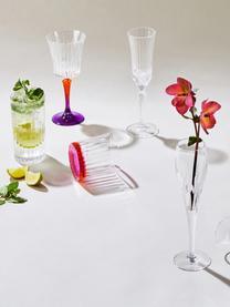 Kristall-Longdrinkgläser Timeless mit Rillenrelief, 6 Stück, Luxion-Kristallglas, Transparent, Ø 8 x H 15 cm