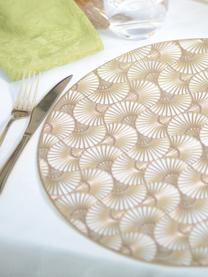 Tovaglietta americana rotonda Ginko, Materiale sintetico, Dorato, Ø 38 cm