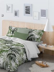 Parure copripiumino in cotone Dalor, Cotone, Fronte: verde, bianco Retro: bianco, 200 x 200 cm