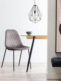 Krzesło tapicerowane Nadine, Tapicerka: 100% poliester, Nogi: metal powlekany, Szary, czarny, S 51 x G 46 cm