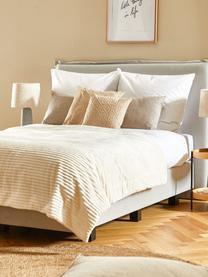 Satinstreifen-Bettwäsche Stella in Weiß, Webart: Satin Fadendichte 250 TC,, Weiß, 240 x 220 cm + 2 Kissen 80 x 80 cm
